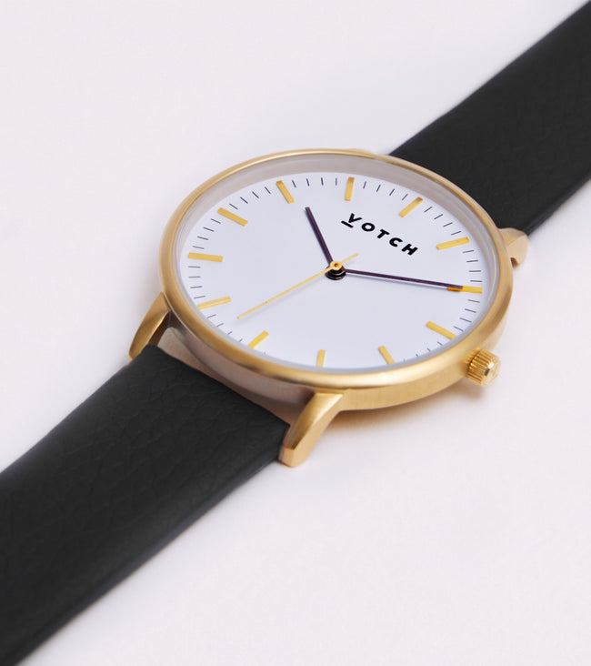 Votch Gold Face With Black Strap