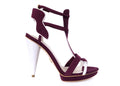 NO ONE'S SKIN Ruby Plum Sandals