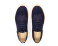 Vegan Fera Libens Women's Rea Tweed Derby Shoes - Blue Violet - Veenofs