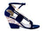 NO ONE'S SKIN Sisy Sandal Blue Wedges