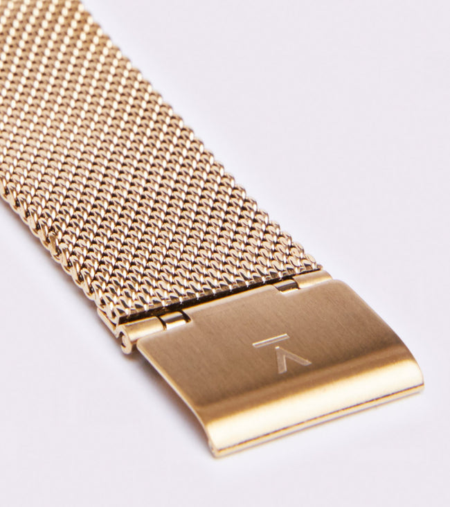 Votch Gold & White With Gold Strap | Mesh Classic