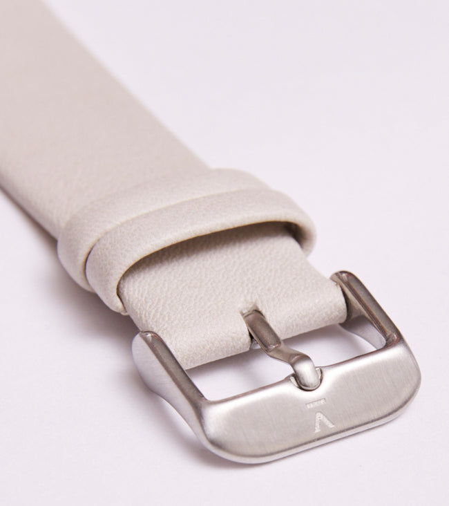 Votch Light Grey With Brushed Silver Buckle | 20mm