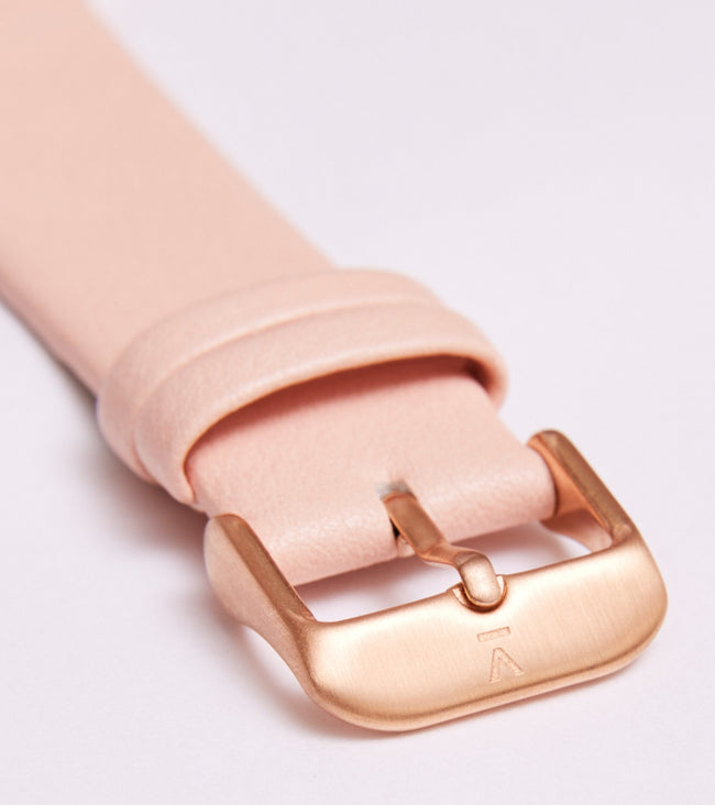 Votch Pink With Brushed Rose Gold Buckle | 20mm