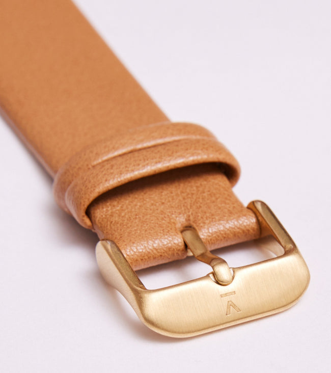 Votch Tan With Brushed Gold Buckle | 20mm