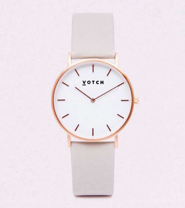 Votch The Light Grey And Rose Gold