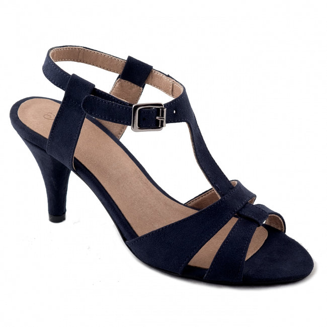 Nae Bona Ankle Strap Heeled Sandals - Blue - Veenofs
