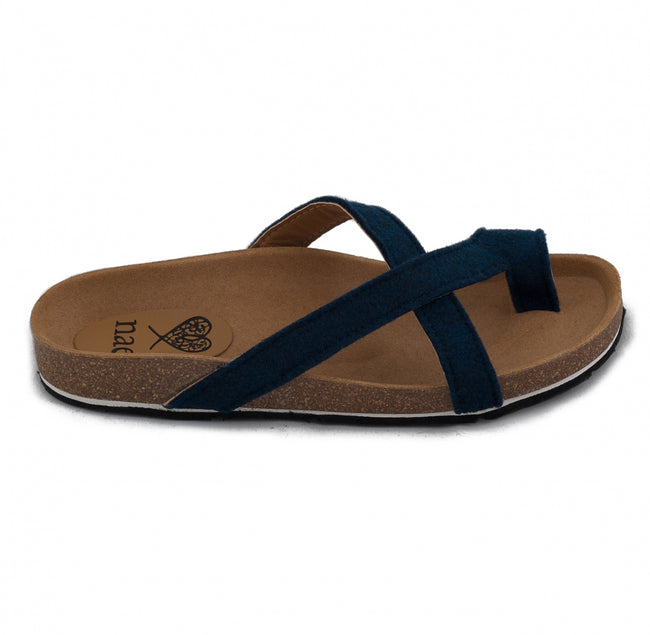 Nae Kupe Vegan Sandals - Blue - Veenofs