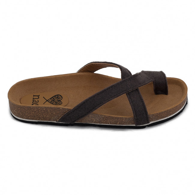Nae Kupe Vegan Sandals - Grey - Veenofs