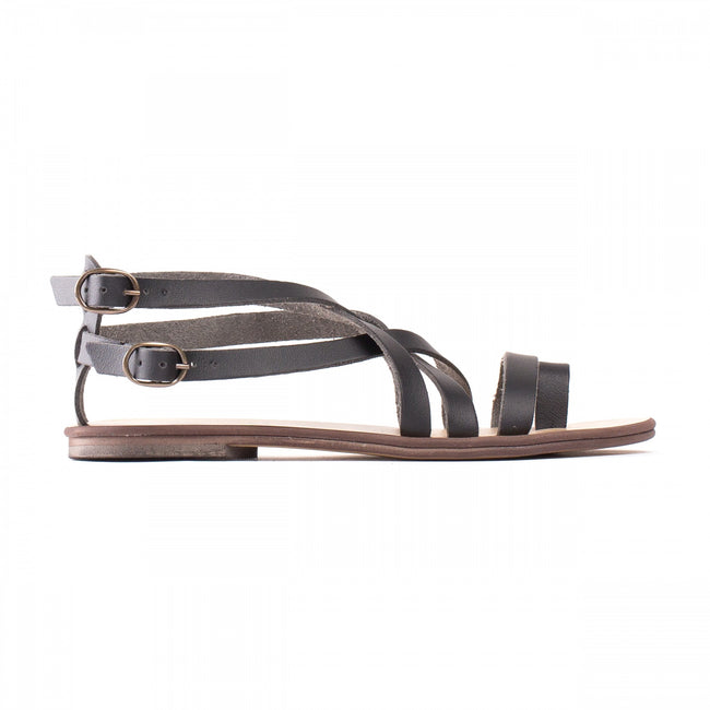 Nae Itaca Vegan Sandals - Black - Veenofs