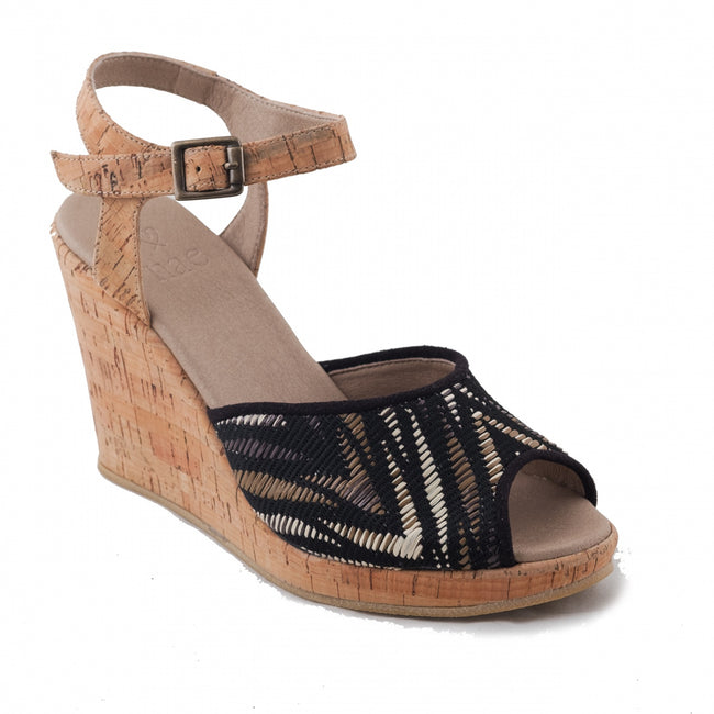 Nae Maika Open Toe Wedge Vegan Sandals - Veenofs