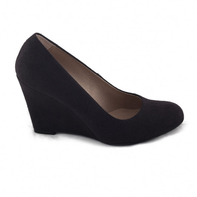Nae Melisa Vegan Wedge Vegan Shoes - Black - Veenofs