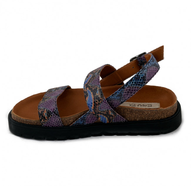 Nae Naja Vegan Sandals - Black/Purple - Veenofs