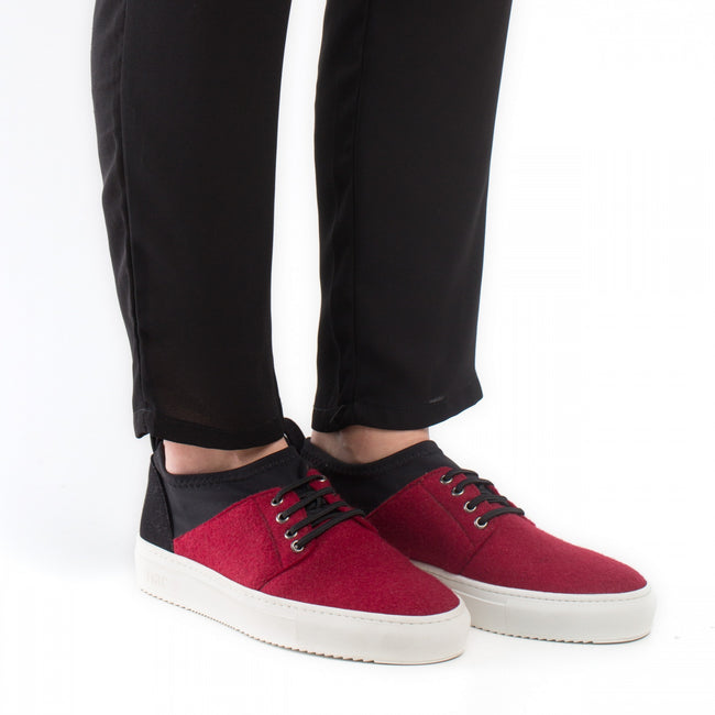Nae Re-PET Vegan Sneakers - Red - Veenofs