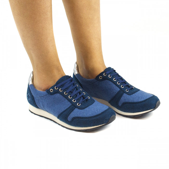 Nae Re-Bottle Vegan Trainers - Blue - Veenofs