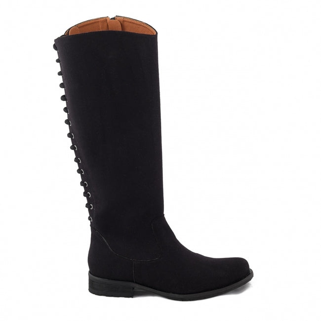 Nae Laia Knee High Vegan Boots - Black - Veenofs