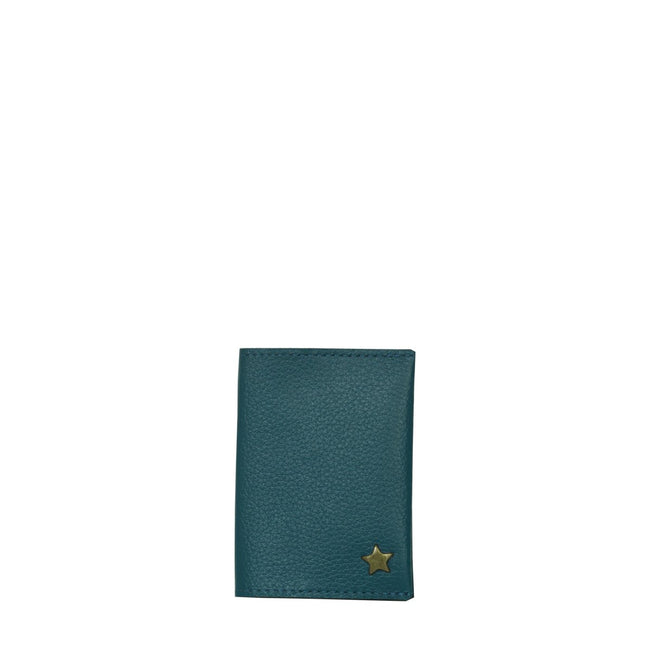 Vegan Camille Aden Card Holder - Blue - Veenofs