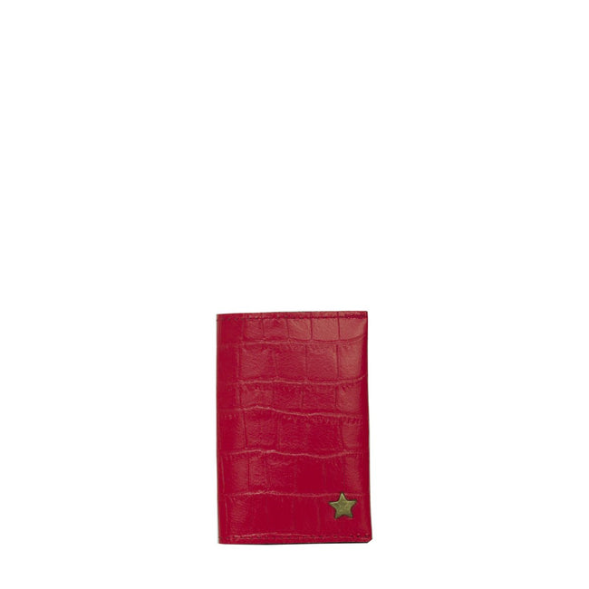 Vegan Camille Aden Croco Card Holder - Red - Veenofs