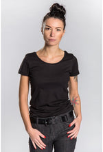 Slogan Women's Basic T-Shirt - Black - Veenofs