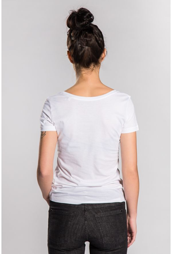 Slogan Women's Basic T-Shirt - White - Veenofs