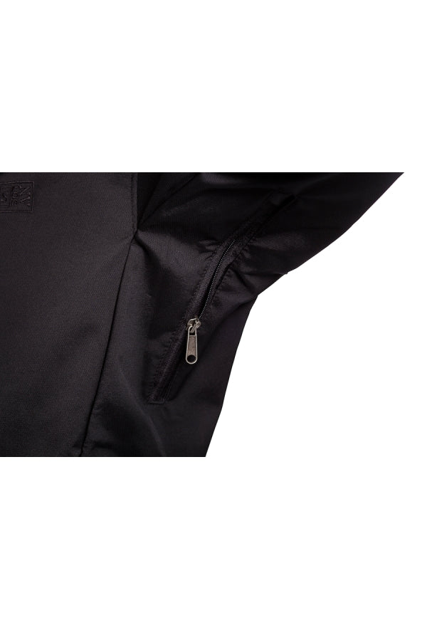 Slogan Biker Jacket rPET Active Softshell - Black With Black Zip - Veenofs