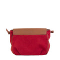 Vegan Camille Velvet Shoulder Bag - Red - Veenofs