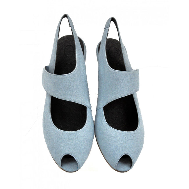 NOAH Francesca Peep Toe - Light Blue - Veenofs
