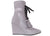 NO ONE'S SKIN Gialetta Pale Grey Ankle Boots Wedges