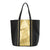 Vegan Camille Java Piñatex Shopper Bag - Black/Gold - Veenofs