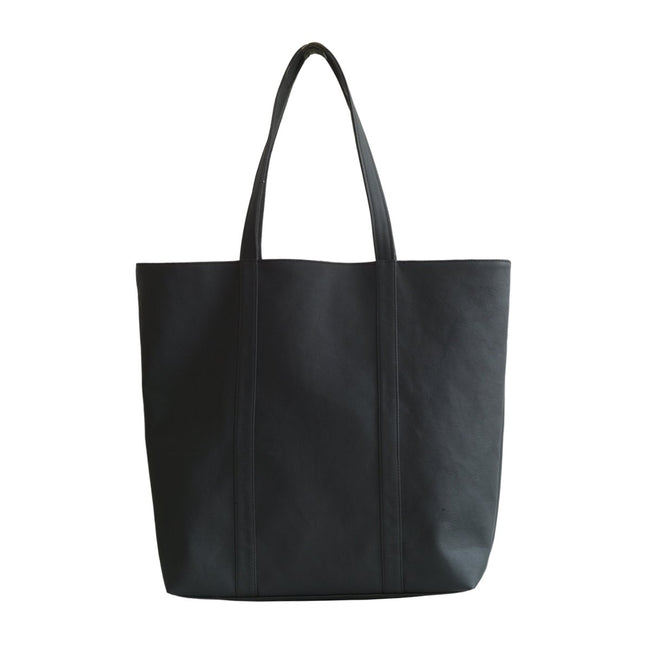 Vegan Camille Java Apple Shopper Bag - Black - Veenofs
