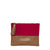 Vegan Camille Kara Pouch - Red/Brown - Veenofs