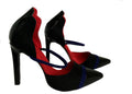 Luna black pump, red lining cool vegan pumps by Ivana Basilotta