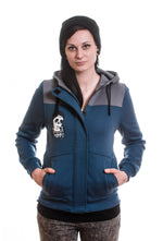 Slogan Women's Mayate Hoodie By Coxie - Sea - Veenofs