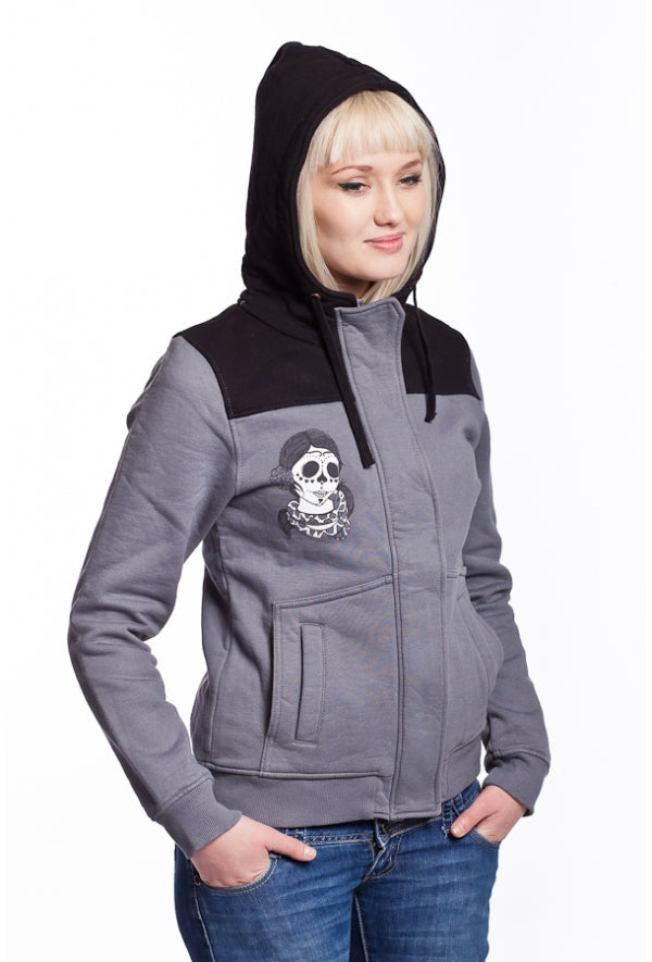 Slogan Women's Mayate Hoodie By Coxie - Grey - Veenofs