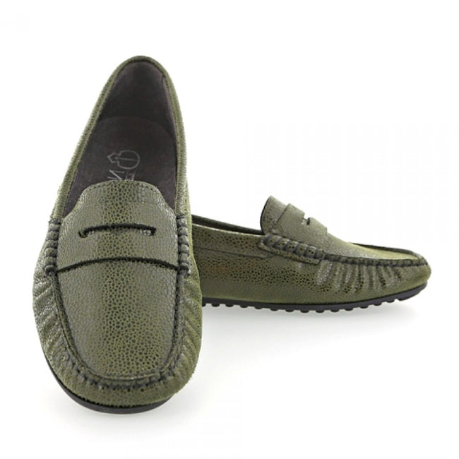 NOAH Tommy Razza Loafer - Green - Veenofs