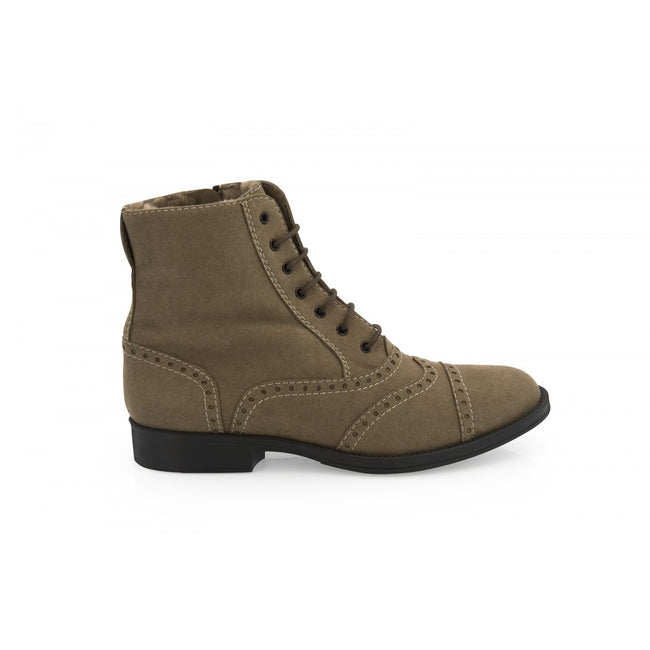 NOAH Marisa Brogue Ankle Boots - Taupe - Veenofs