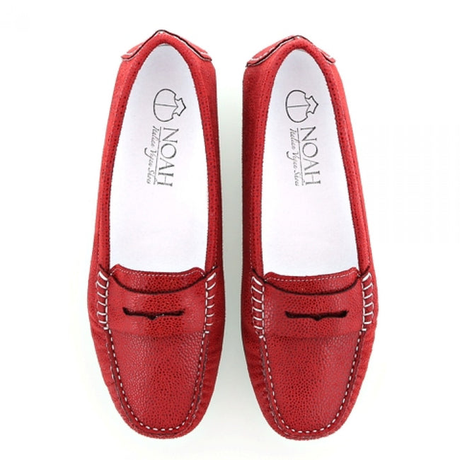 NOAH Tommy Razza Loafer - Red - Veenofs