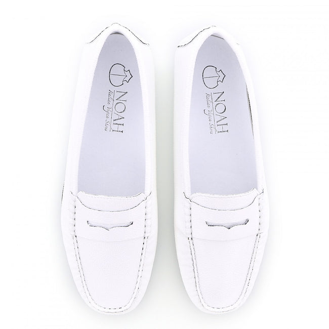 NOAH Tommy Razza Loafer - White - Veenofs