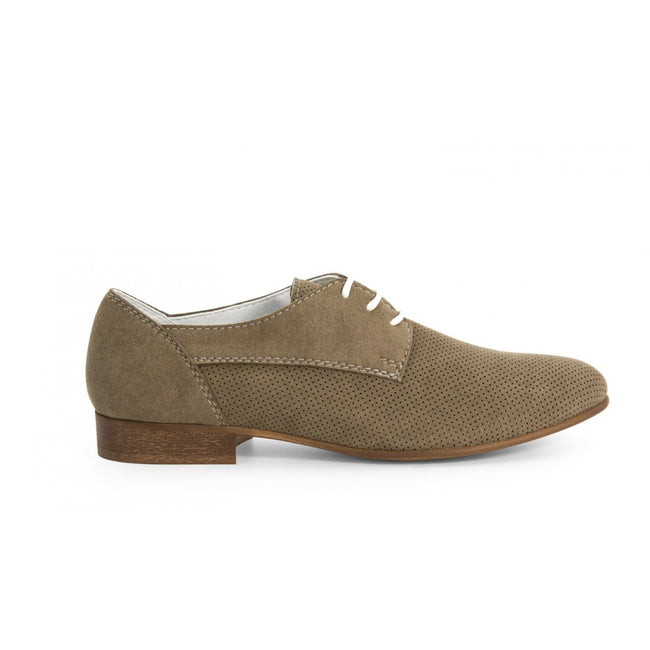NOAH Giorgia Lace Up Shoes - Taupe - Veenofs
