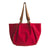 Vegan Camille Velvet Hobo Oman Bag - Red - Veenofs