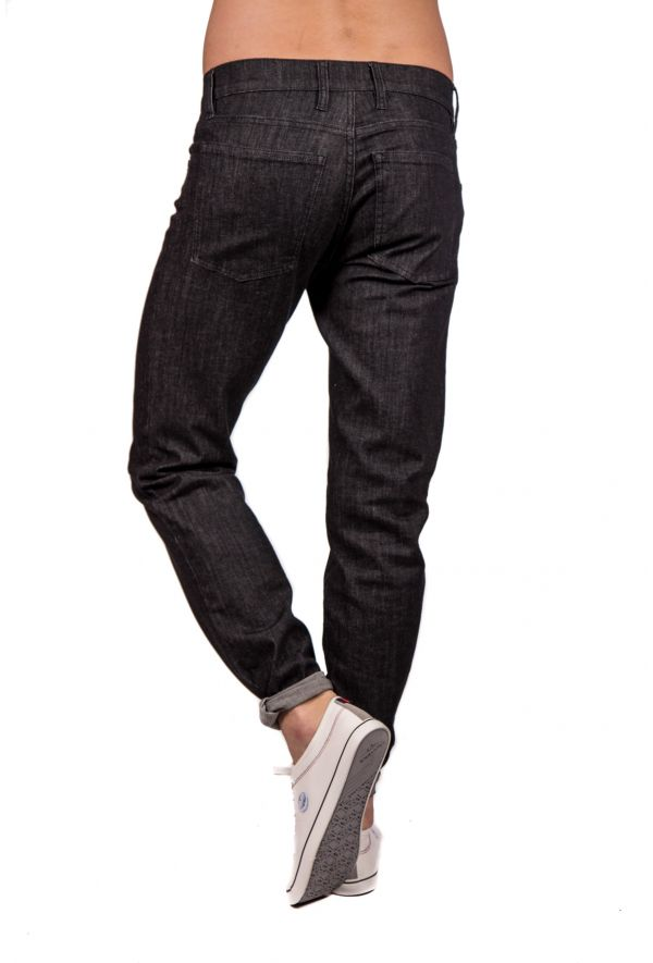 Slogan Organic Cotton Jeans - Black - Veenofs