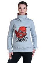 Slogan Women's Poppy Fish By Blue Darts Sweatshirt - Grey - Veenofs