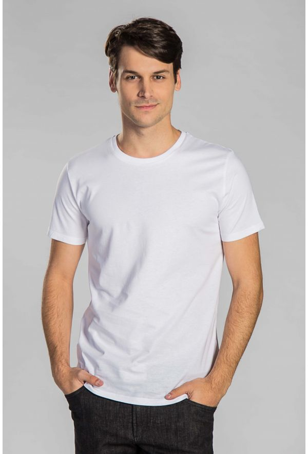Slogan Basic T-Shirt Regular Fit - White - Veenofs