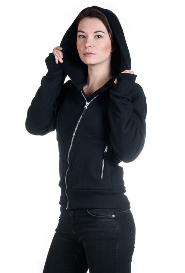 Slogan Women's The Bassman Hoodie - Black - Veenofs