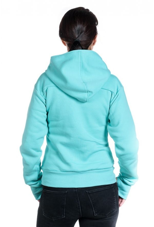 Slogan Women's The Bassman Hoodie - Mint - Veenofs