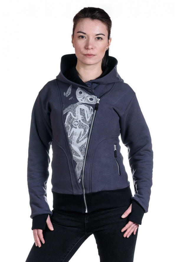 Slogan Women's The Eye Hoodie By OTECKI - Grey - Veenofs