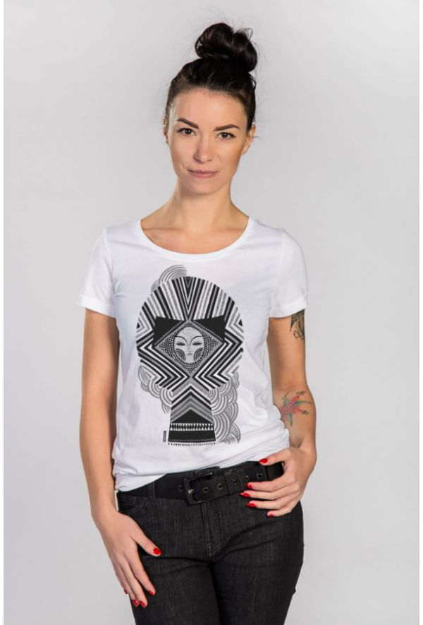 Slogan Women's The Skull T-Shirt - White - Veenofs