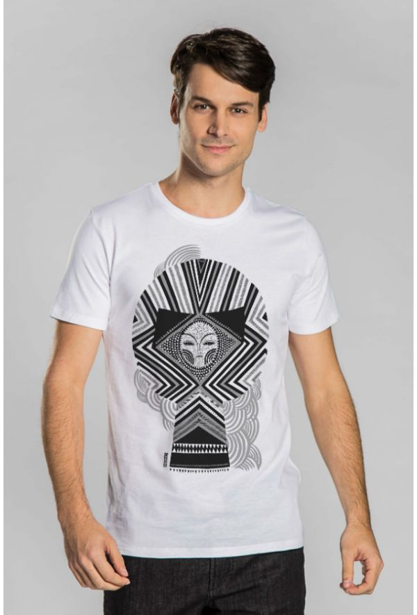Slogan The Skull T-Shirt - White - Veenofs