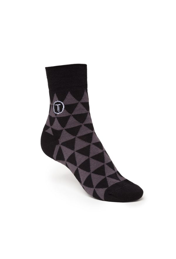 Slogan Bio Faitrade Organic Cotton Socks - Black/Grey - Veenofs