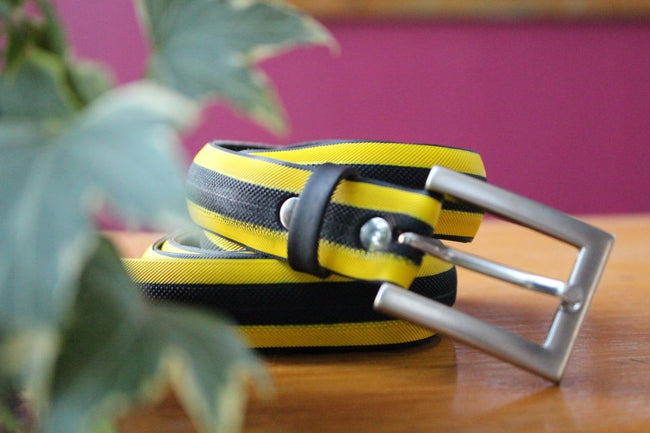 Vegan Laura Zabo Yellow Lines Bicycle Tire Belt - Veenofs