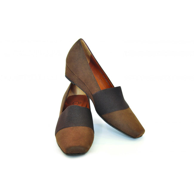 NOAH Chiarella Wedge Style Heel - Brown - Veenofs